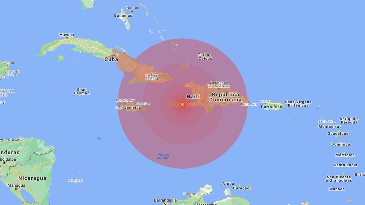 Terremoto de magnitude 7 registrado no Haiti