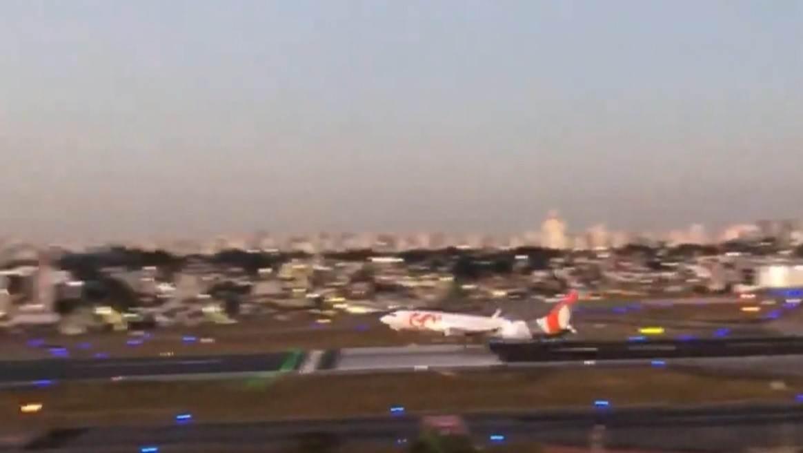 Avião decola pouco antes do fim da pista em Congonhas