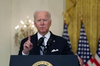 """Biden se dirigiu a empregadores. """"Minha mensagem é simples. Faça a coisa certa para seus funcionários, consumidores e seus negócios"""