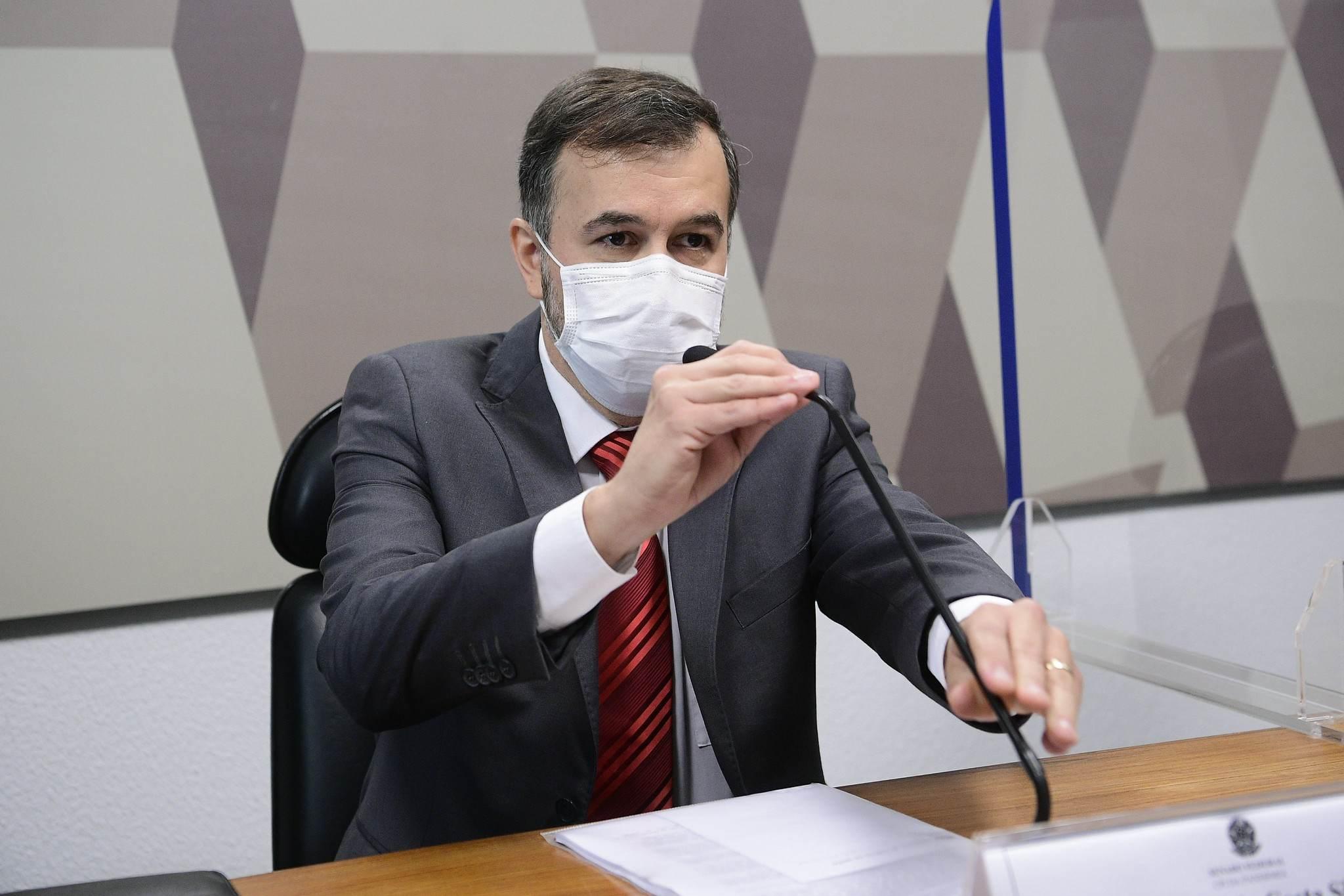 Alexandre Marques, auditor afastado do TCU, na CPI da Pandemia
