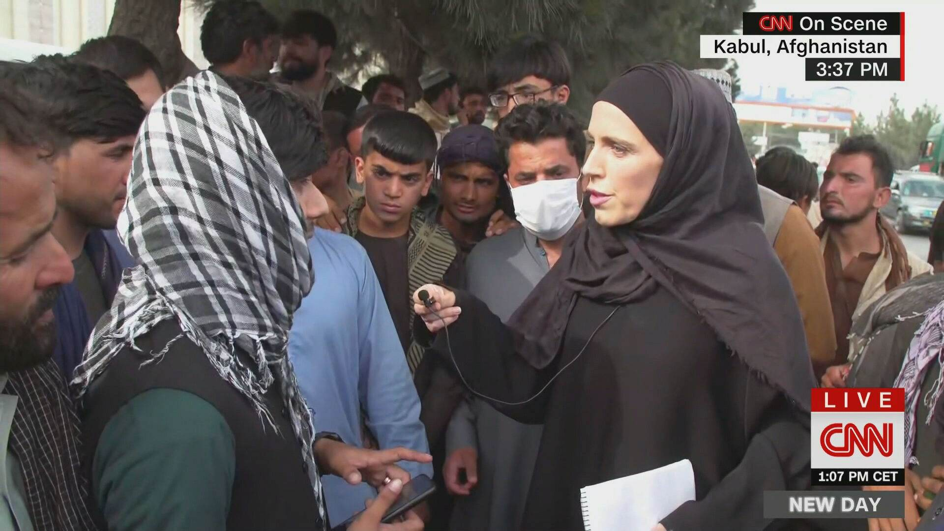 A correspondente da CNN Internacional Clarissa Ward em Cabul