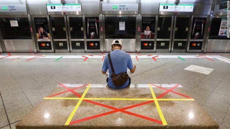 Estação de trem em Singapura