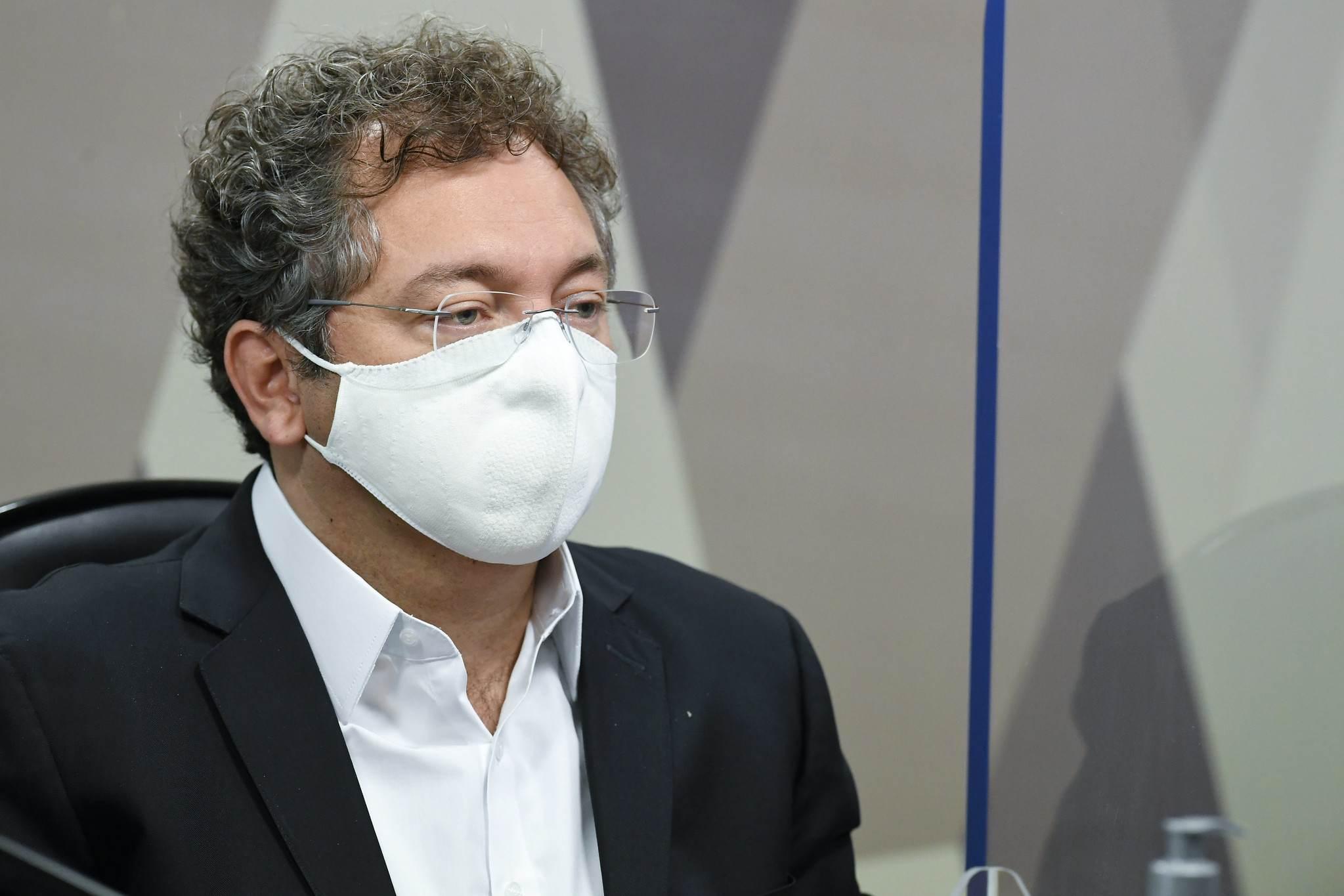 Dono da Precisa Medicamentos, Francisco Maximiano, em depoimento à CPI da Covid