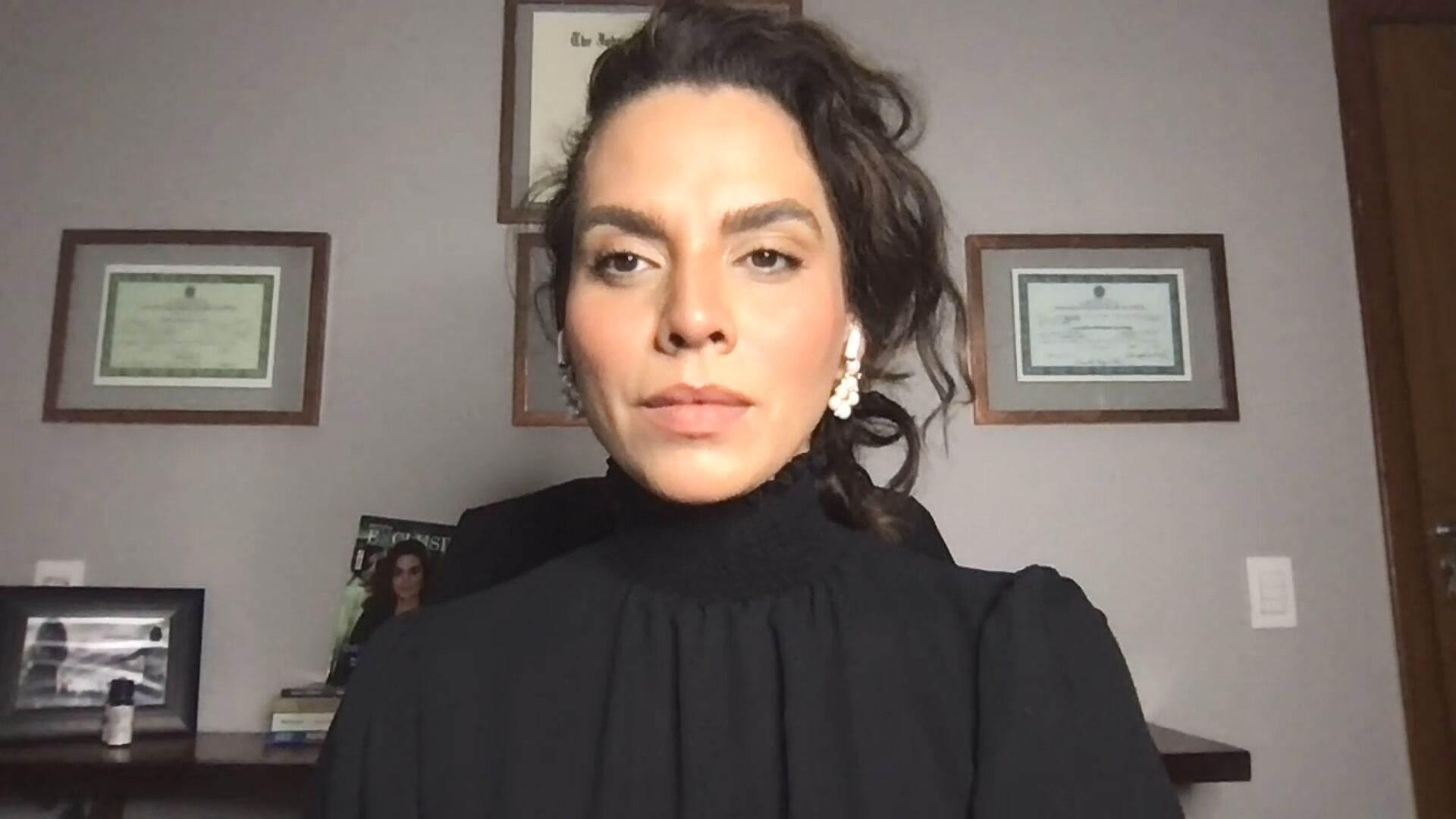 A médica infectologista Luana Araújo em entrevista à CNN