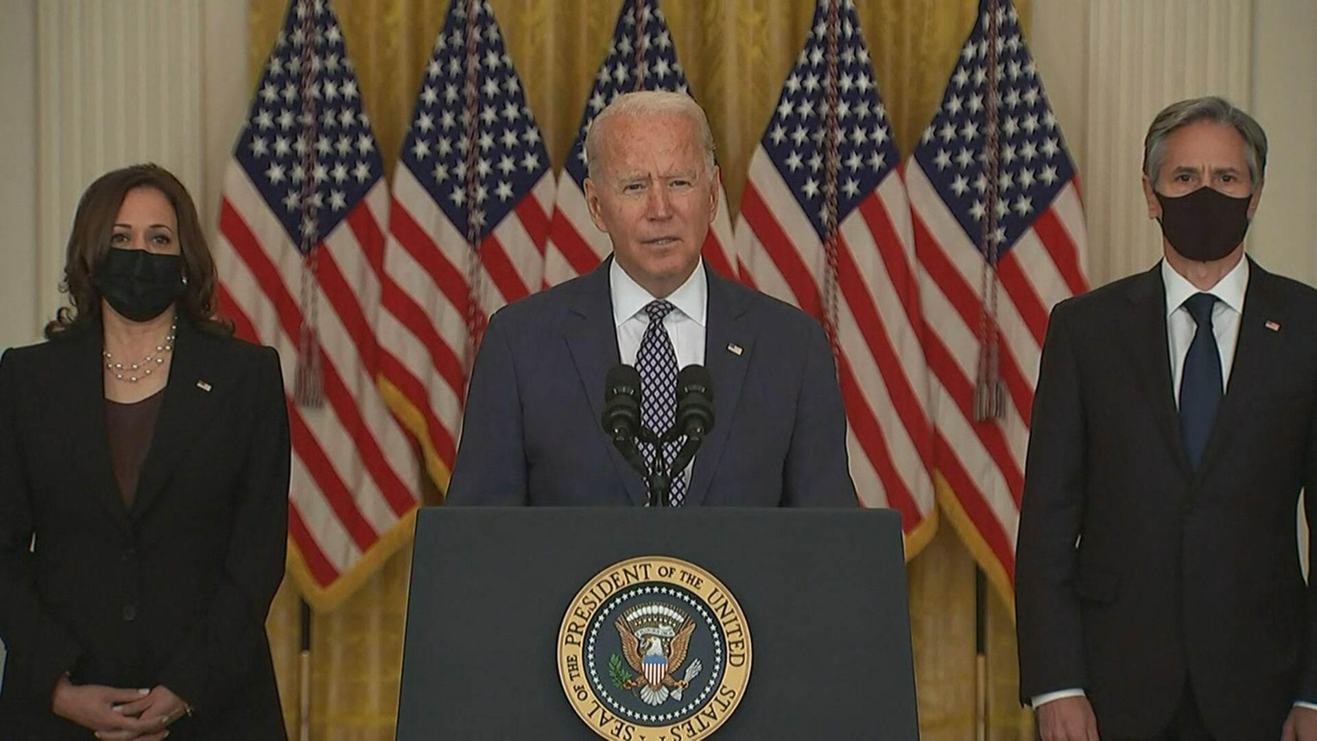 Joe Biden, presidente dos Estados Unidos, fala sobre situação no Afeganistão