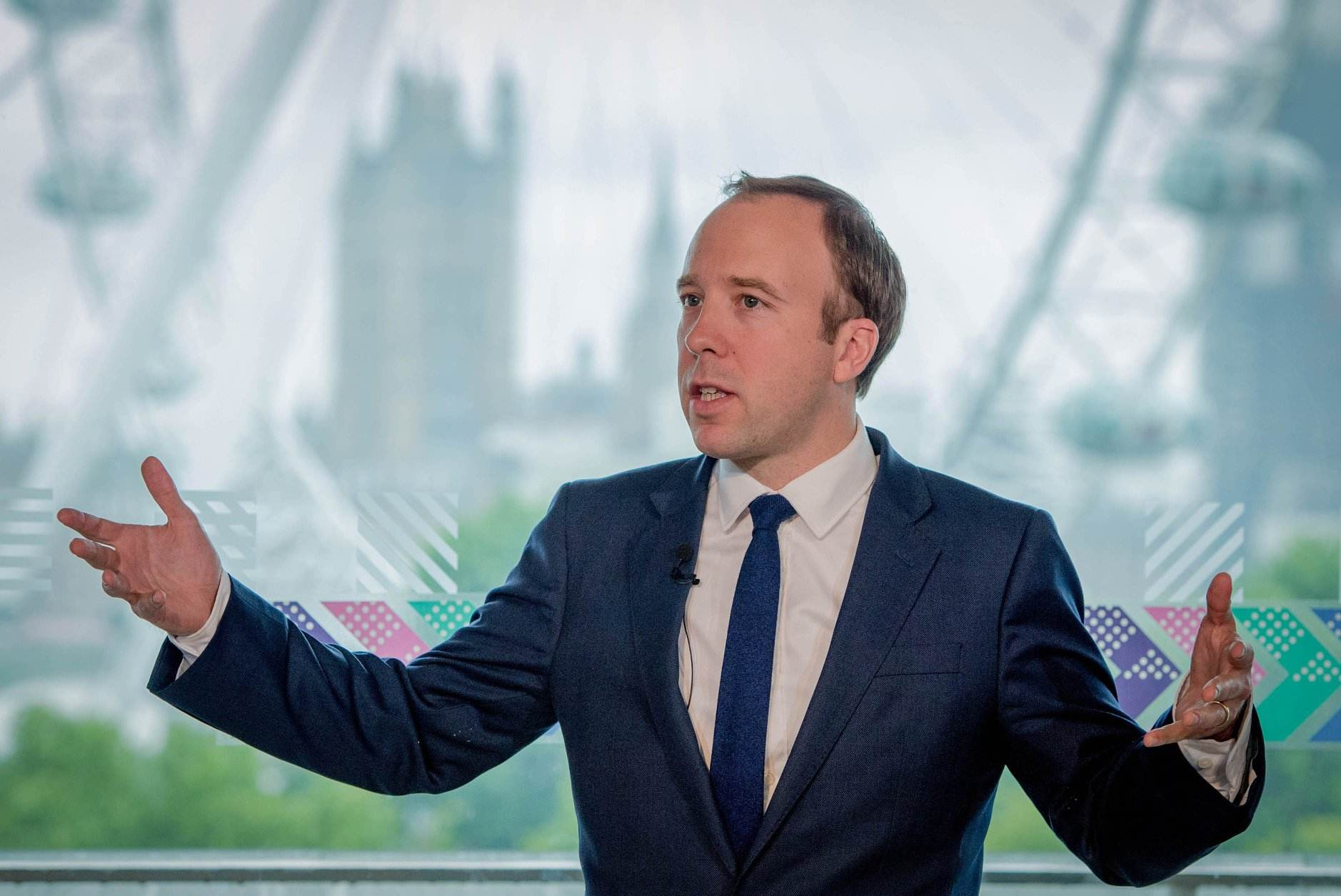 O ministro da Saúde do Reino Unido, Matt Hancock