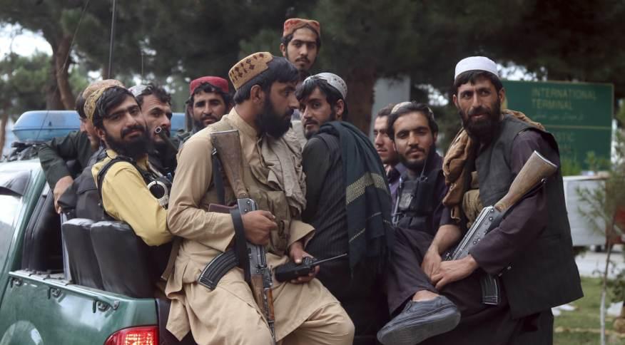 Combatentes do Talibã na capital Cabul, Afeganistão