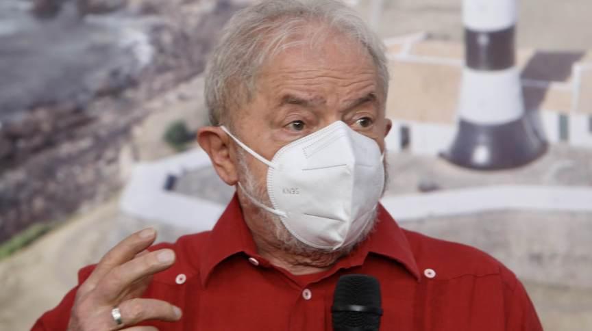 O ex-presidente Luiz Inácio Lula da Silva (PT) em Salvador, na Bahia, nesta quinta-feira (26)