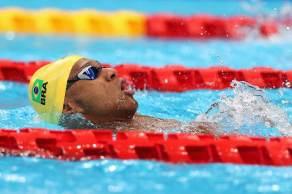 Brasileiro conquistou o segundo lugar na final dos 100m costas da classe S2, no Centro Aquático de Tóquio