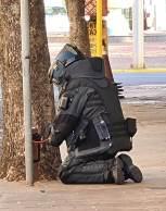 Agentes do do Grupo de Ações Táticas Especiais (Gate) fizeram varreduras em 16 locais diferentes nesta terça-feira (31)