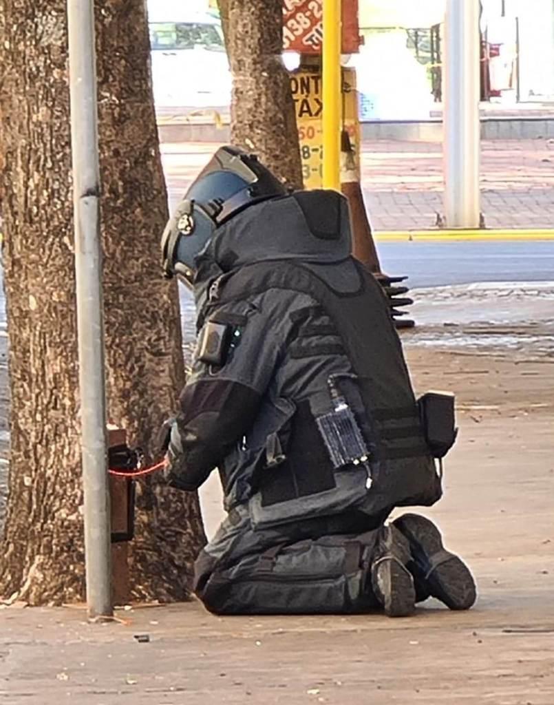 Policial Militar do Gate desativa explosivo deixado em Araçatuba por criminosos que atacaram bancos