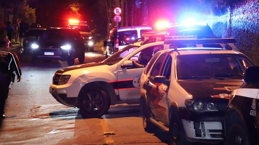 Polícia Militar atende ocorrência na região de Cotia, em São Paulo