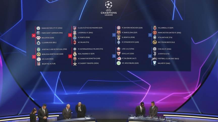Uefa sorteou nesta quinta-feira (22), na Turquia, os grupos da Liga dos Campeões 2021-22