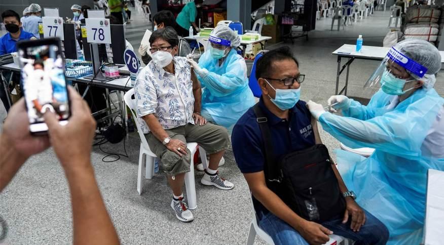 Vacinação contra a Covid-19 em Bangcoc, Tailândia