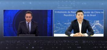 Suspeitas contra a empresa de 5G levantadas pelos EUA foram feitas sem provas, afirma ministro-conselheiro da Embaixada da China no Brasil, Qu Yuhui