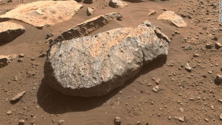Foto de uma rocha marciana