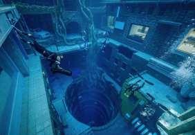 Sistemas de iluminação e som de última geração foram instalados dentro da piscina para criar ambientes diferentes