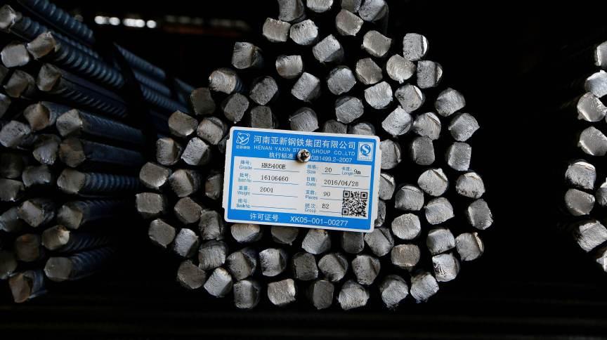 Vergalhões de aço em Fenyang, China 28/04/2016REUTERS/John Ruwitch