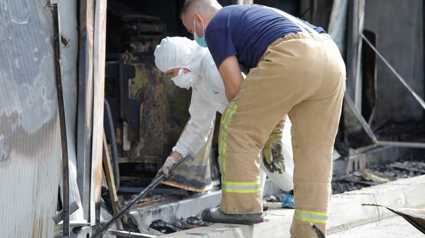 Incêndio em hospital de Covid-19 em Tetovo, na Macedônia do Norte