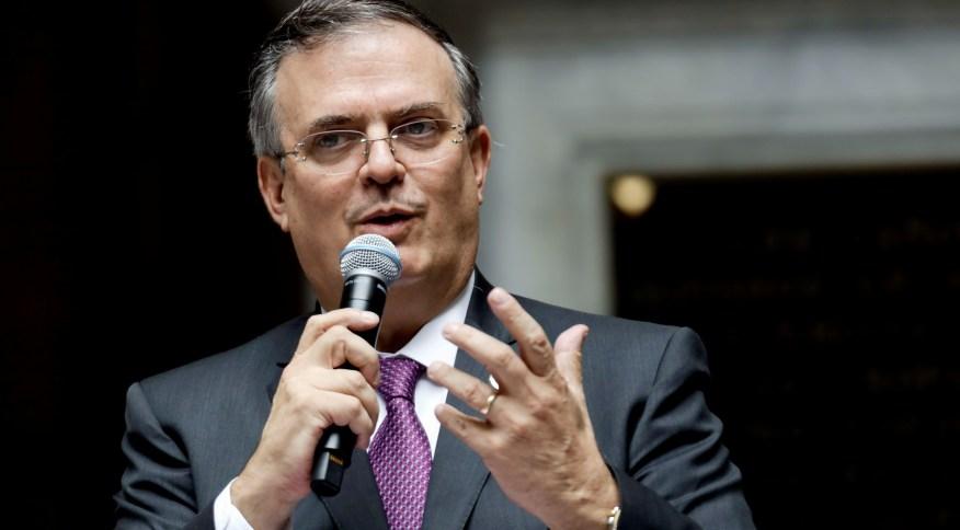 Marcelo Ebrard, chanceler do México, anunciou a recuperação de manuscritos que estavam nos Estados Unidos