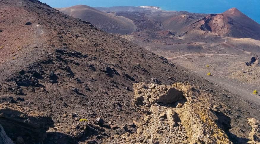 Imagem da ilha La Palma, que tem o Cumbre Vieja como um dos vulcões ativos