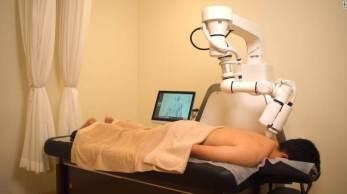 Tecnologia usa sensores e visão 3D para medir a tensão muscular e oferecer massagens para ajudar no alívio da dor e relaxamento