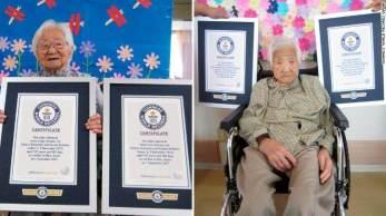 Irmãs Umeno Sumiyama e Koume Kodama receberam título do Guinness World Records