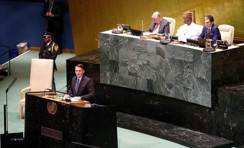 Bolsonaro discursa na abertura do Debate Geral da Assembleia da ONU em 2019