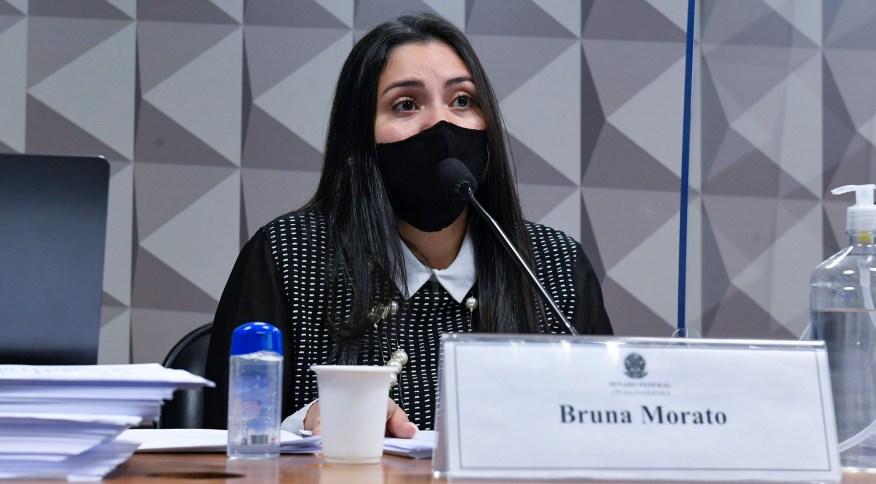 Advogada de ex-médicos da Prevent Senior, Bruna Morato, durante depoimento na CPI da Pandemia