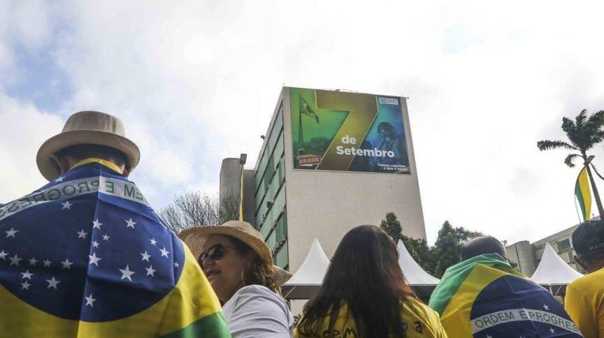 Desfile de 7 de Setembro na Esplanada dos Ministérios de Brasília em 2019