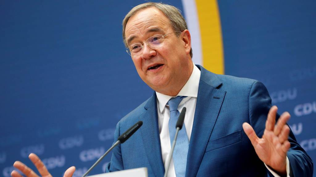 Armin Laschet, candidato da CDU a primeiro-ministro da Alemanha
