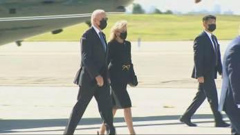 Presidente americano falou brevemente com repórteres antes de se dirigir ao memorial das vítimas no Pentágono