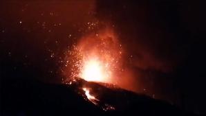 Aeroporto fecha com intensificação da erupção do vulcão em La Palma