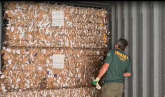 Cargas são provenientes dos Estados Unidos, República Dominicana e Honduras, e chegaram declaradas como material para reciclagem