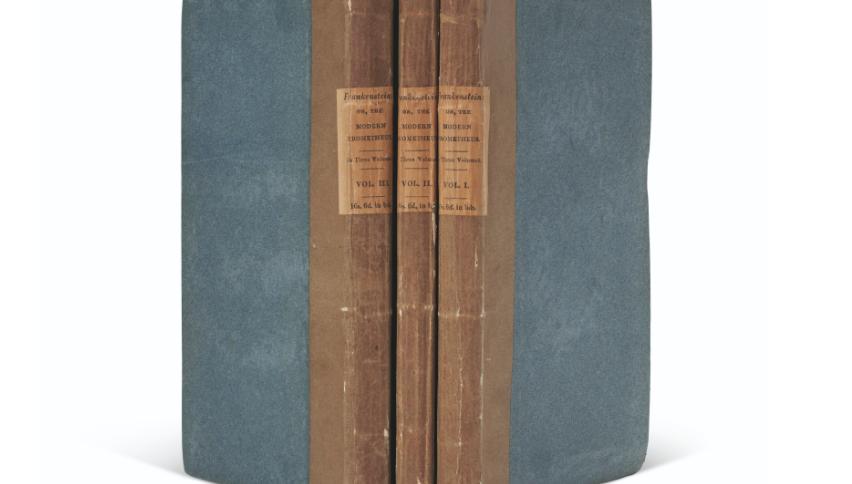 """Cópia da primeira edição de """"Frankenstein"""", de 1818, foi vendida por US$ 1,2 milhões em leilão"""