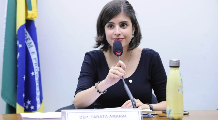 Deputada Tabata Amaral anunciou filiação ao PSB