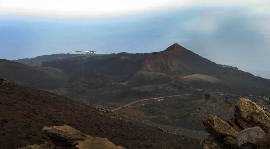 Região vulcânica Cumbre Vieja, em Las Palmas, nas Ilhas Canárias