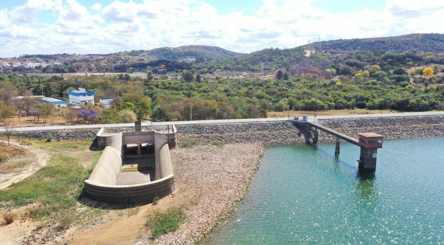 Represa de Vargem das Flores, entre as cidade de Betim e Contagem, MG: com 65% da capacidade, o reservatório registra o menor nível em 19 meses