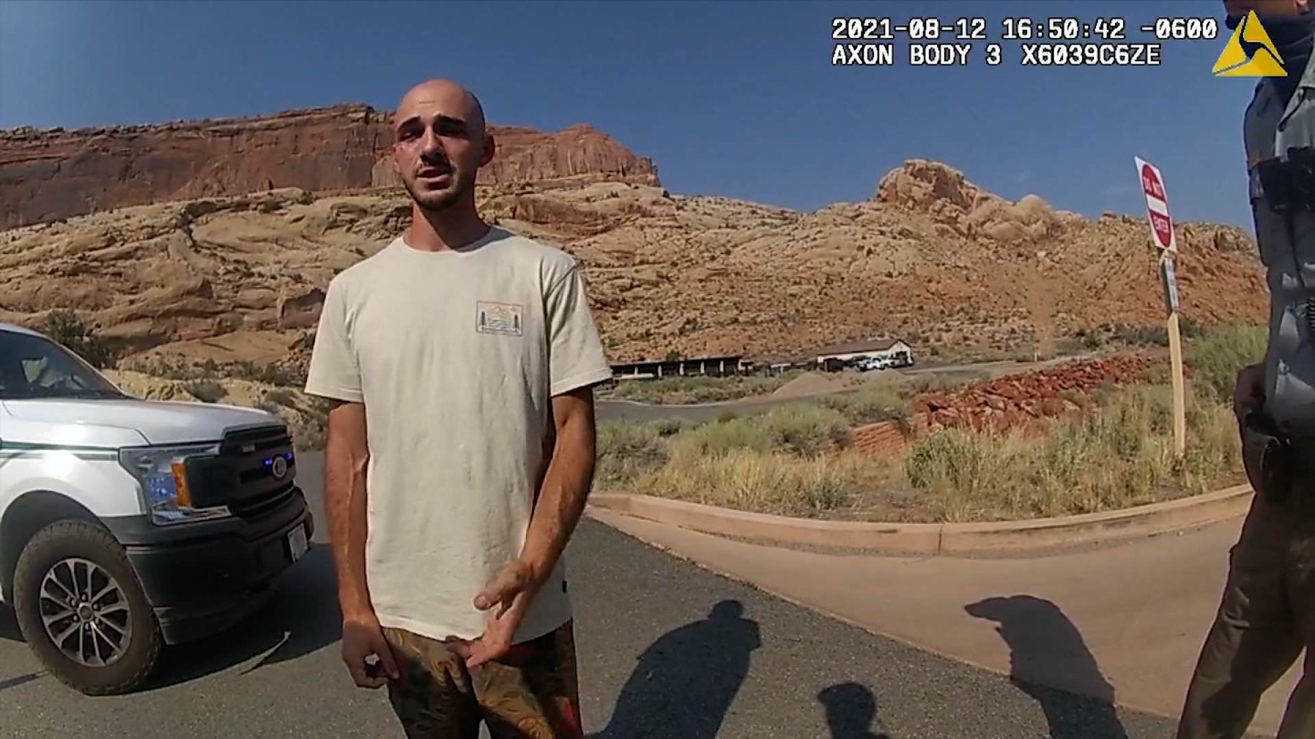 Gaby e Brian (foto) foram abordados pela polícia de Moab, em Utah, após episódio considerado uma 'disputa doméstica' entre casal