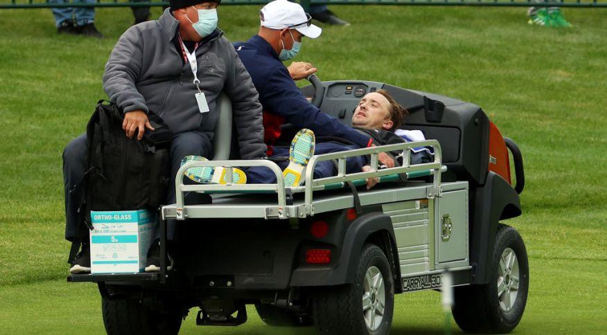 Tom Felton precisou deixar o jogo de golfe do qual participava, nos Estados Unidos