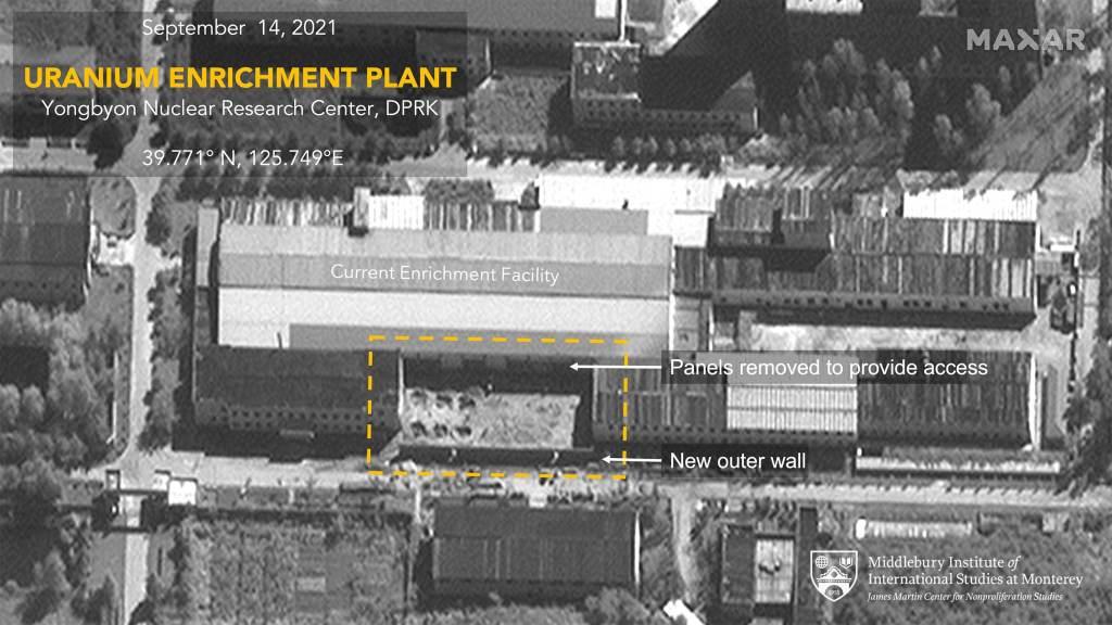 Imagens mostram a Coreia do Norte expandindo instalação usada para fazer urânio para armas