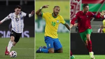 Maior artilheiro do Brasil nas Eliminatórias, maior goleador por seleções na história e jogador com mais gols por um único clube são algumas das marcas estabelecidas pelo trio