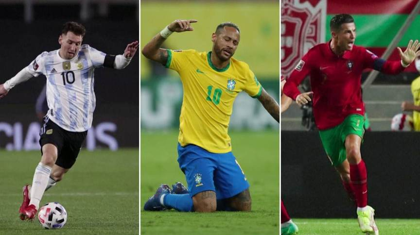 Messi, Neymar e CR7