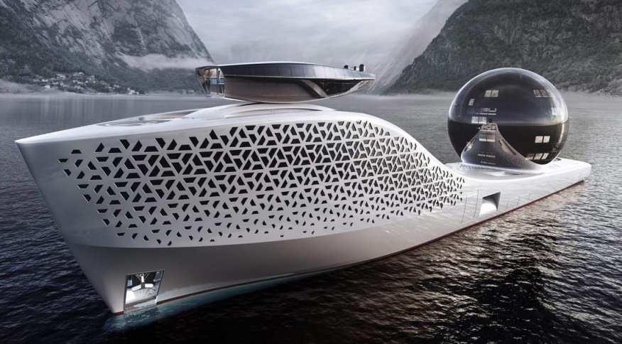 O Terra 300 quer mesclar o luxo dos superiates com a pesquisa científica para criar um meganavio livre de emissões