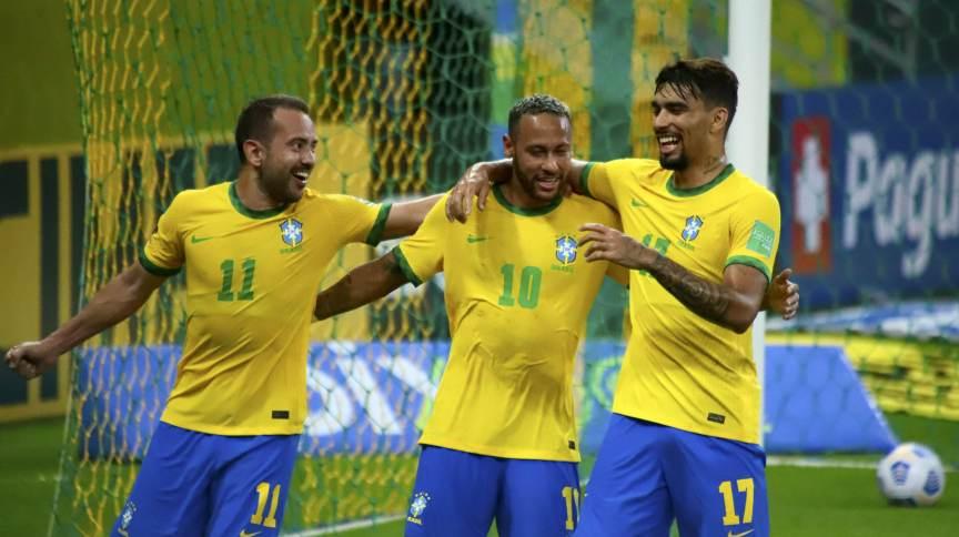 Neymar durante comemoração de gol na partida contra o Peru - 9 de setembro de 2021