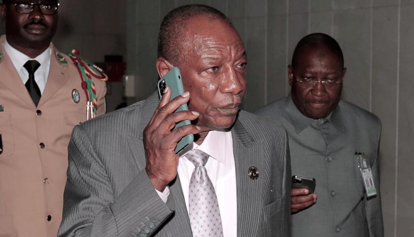 Presidente deposto de Guiné, Alpha Conde
