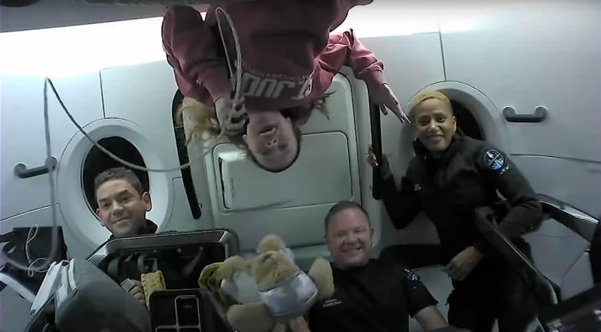 A equipe do Inspiration4 decolou na quarta-feira (15) do Kennedy Space Center em Cabo Canaveral