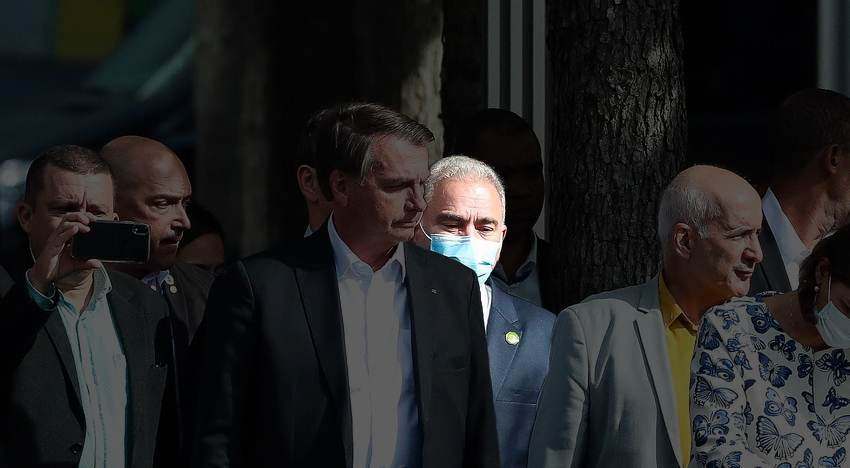 O ministro da Saúde, Marcelo Queiroga, acompanhou Bolsonaro em Nova York