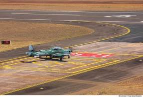Piloto da Força Aérea Brasileira foi resgatado por um helicóptero e passa bem