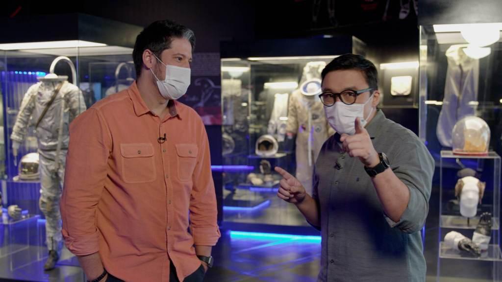 Siani e Nakagawa no primeiro episódio do CNN Brasil Business